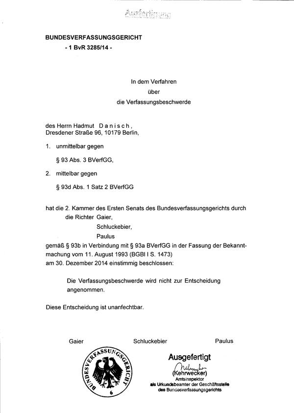Danisch.de » Das korrupte Bundesverfassungsgericht